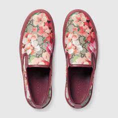 Blooms Print Slip On Sneaker Gucci SneakersGucci ShoesWomens