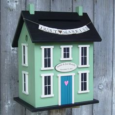 Wedding Card Holder Birdhouse  The Original by DoorCountyWoodworks, $160.00  House Down Payment Fund Gift Collection Box
