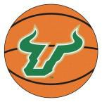 Ncaa University of South Florida Orange 2 ft. 3 in. x 2 ft. 3 in. Round Accent Rug