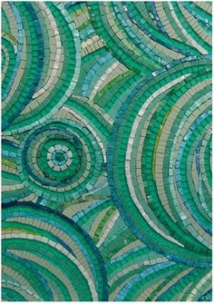 beautiful colors and pattern in this mosaic. would look great above the fireplace in a beach house