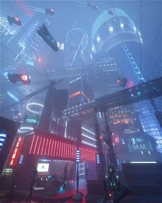 Cyberpunk urban city street environment landscape cityscape concept Art by Alex Calandri futuristic city Ville Cyberpunk, Art Cyberpunk, Cyberpunk Aesthetic, City Aesthetic, Korean Aesthetic, Cyberpunk Tattoo, Cyberpunk 2020, Cyberpunk Fashion, Landscape Concept
