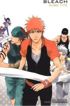(Back: Inoue Orihime & Kuchiki Rukia) Abarai Renji & Kurosaki Ichigo & Hitsugaya Toshirou & Madarame Ikkaku | Bleach #manga