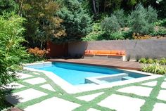 Los Angeles Modern Swimming Pool Design Ideas, Pictures, Remodel And Decor
