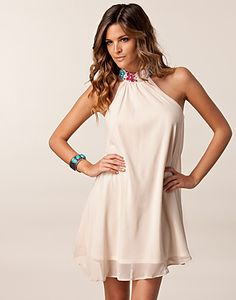 Looked at this dress earlier today, but didn't order it. Now my size is gone :( - JOHN ZACK / HALTER TRIM DRESS - NELLY.COM
