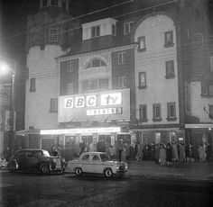 The BBC Theatre, previously known as the Shepherds Bush Empire. Old London, East End London, Vintage London, Vintage Tv, West London, London History, British History, Acton London, British Broadcasting Corporation
