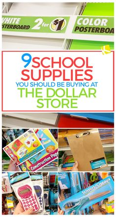 Don't go shopping for back-to-school before reading this list of supplies you should skip at Target, and stock up on at the Dollar Store!