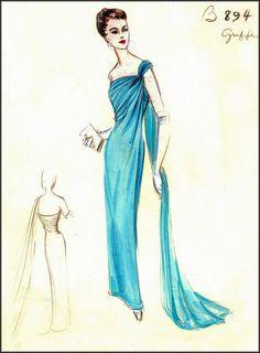 vintage barbie couture | VINTAGE HAUTE COUTURE SKETCHES