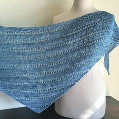 Ravelry: Steampunk River pattern by Ann Alger Crochet Shawls And Wraps, Crochet Scarves, Knitted Shawls, Lace Shawls, Knitting Room, Knitting Stitches, Knitting Needles, Free Knit Shawl Patterns, Knitting Patterns
