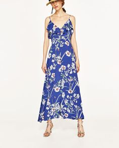 Image 4 of LONG PRINTED DRESS from Zara