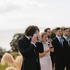 When he sees HER ps were all crying Seeing the bride walk down the aisle is my favourite part of the ceremony and I cry EVERY TIME My Favorite Part, My Favorite Things, Marriage Celebrant, Walking Down The Aisle, Crying, Bride, Couples, Couple Photos, Celebrities