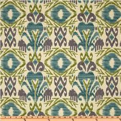 Richloom's Solarium Outdoor Collection; Sumter Ikat in Opal \\ $9 per yard \\ Indoor/Outdoor