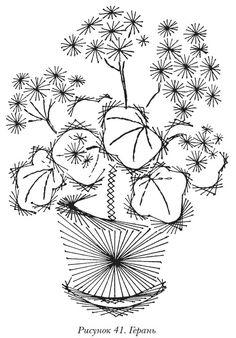 Изонить для начинающих схемы с цифрами цветы (фото)