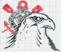 Ponto Cruz Graficos Gratis- Cantinho dos Pontinhos. Schemi Punto Croce: Grafico Corinthians C2c, Rooster, Pokemon, Kids Rugs, Animals, Cross Stitch Art, Cross Stitch Patterns, Embroidery Ideas, Cross Stitch Embroidery