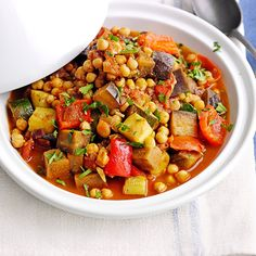 Cajun Delicacies Is A Lot More Than Just Yet Another Food Moroccan Veg And Chickpea Tagging - This Recipe For Moroccan Veg And Chickpea Tagine Is Vegan, Low-Fat And Really Easy To Make. This Makes Enough For Four, But The Leftovers Freeze Well. Moroccan Tagine Recipes, Moroccan Dishes, Tajin Recipes, Vegetable Recipes, Coctails Recipes, Vegetarian Tagine, Moroccan Vegetables, Moroccan Vegetable Stew, Vegans