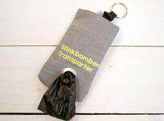 """Beutel für Hundetüten """"Stinkbomben-Transporter"""" von FRIDA UND BOLLE auf DaWanda.com"""