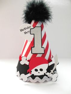 Pirate Birthday Party Hat Personalized  by SandysSpecialtyShop, $15.50