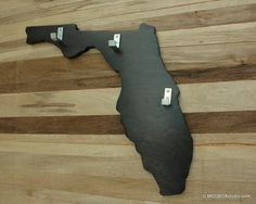 Coat Rack Key Hook Wall Hanging State Shape Florida in by MODBOX, $64