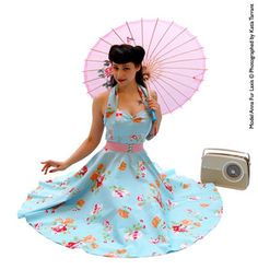 Vivien of Holloway rockabilly 50s style floral circle dress pin up style