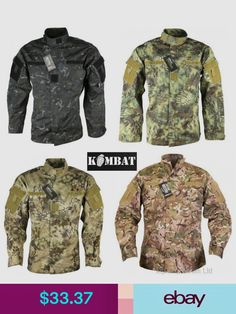 Kombat UK Tactical Shirts & Tops #ebay #Clothes, Shoes & Accessories Tactical Shirt, Smocking, Military Jacket, Camo, Jackets, Shirts, Men, Clothes, Accessories