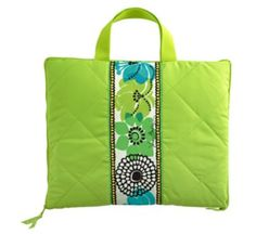 Beautifully colored, and easy to carry Picnic blanket that can double as a comfy chair coshion! @Vera Bradley