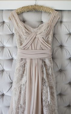 Grey lace gown