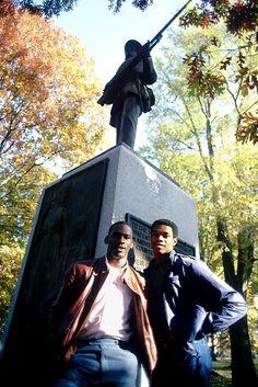 Michael Jordan and Sam Perkins (SI photo)