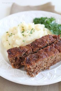 This easy meatloaf recipe is extra beefy with the addition of one delicious secret ingredient! Find out how to make the best meatloaf you have ever eaten!   LoveGrowsWild.com