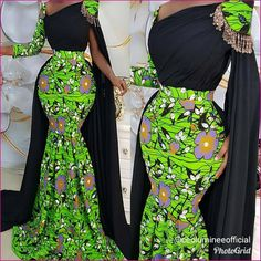 Latest Ankara Styles 2019 For Ladies: 50 + Latest and Beautiful Ankara styles for Ladies To Try Out African Prom Dresses, Ankara Dress Styles, African Wedding Dress, African Dresses For Women, African Attire, African Women, African Fashion Ankara, Latest African Fashion Dresses, African Print Fashion