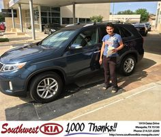 https://flic.kr/p/FYpPHS | Congratulations Ammar on your #Kia #Sorento from Jarod Mizell at Southwest Kia Mesquite! | deliverymaxx.com/DealerReviews.aspx?DealerCode=VNDX