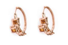 Perfect Sequence Citrine Hoop Earrings