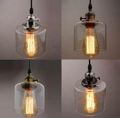 Clear Glass Bottle Vintage Retro Bar Lampshade Chandelier Ceiling Pendant Light