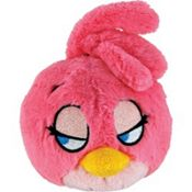 Pink Angry Birds Plush Toy 5in