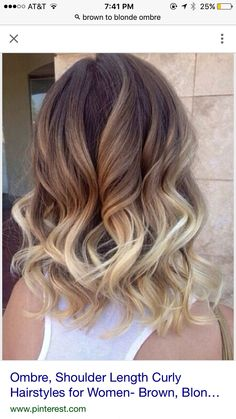 Brown blonde ombré