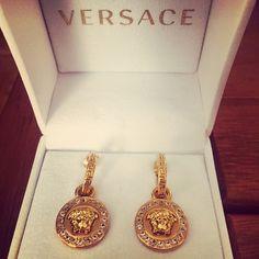 feaea617de83 VERSACE Greca   Medusa Drop Earrings Brand new! Still in box   never worn  Versace
