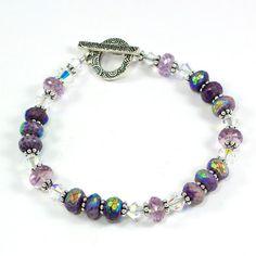 Handmade OOAK Bracelet Sugilite Pink Amethyst @solanakaidesign