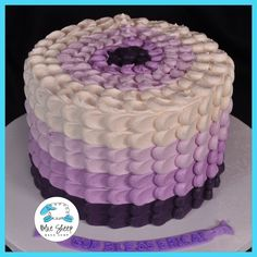 ombre purple buttercream birthday cake nj