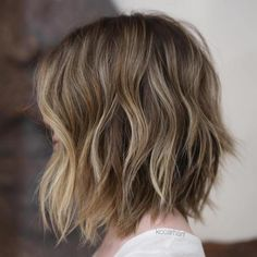 Choppy Brown Bob With Sun-Kissed Highlights