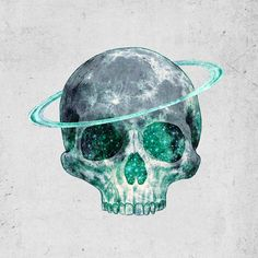 """Cosmic Skull"" Art Print by Terry Fan on Society6."