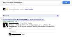 """Fonction """"résultats sociaux uniquement"""" de Google"""