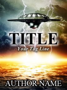Alien Invasion with Fire and Lightening - A Sci-Fi Novel | Customizable Book Cover by RLSather | SelfPubBookCovers: One-of-a-kind premade book covers where Authors can instantly customize and download their covers, and where Artists can post a cover and name their own price.
