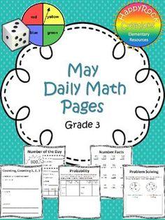 December Daily Math Pages (Focus on Patterns) Math Test, 5th Grade Math, Grade 3, Math Activities, Teacher Resources, Teaching Ideas, Classroom Resources, Classroom Themes, Math Made Easy
