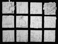 """Louise Nevelson inspired......theme """"Our Town"""". This would go great with my 6th grade theme."""