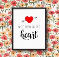 Inglish Digi Design   Valentine Printable Art, Love Wall Art, Valentine's Day Wall Art, Heart & Arrow Love Poster, Festive Home Decor, 8x10 - INSTANT DOWNLOAD by inglishdigidesign on Etsy