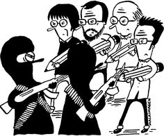 Les dessinateurs rendent hommage à leurs confrères de Charlie Hebdo - malaimagen