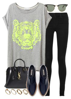 """""""Untitled #3264"""" by hellomissapple on Polyvore featuring J Brand, Yves Saint Laurent, Ray-Ban, Zara and ASOS"""