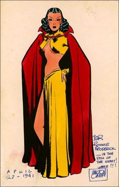 """Milton Caniff's """"Dragon Lady,"""" from the comic strip, """"Terry and the Pirates."""" Her looks were based on those of Joan Crawford."""