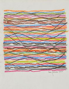 Leon Ferrari, Untitled, 2007, pastel and pencil on paper, 34×24 cm