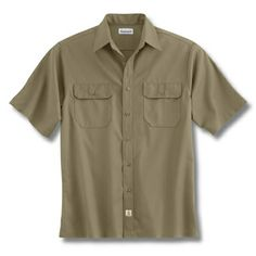 Short-Sleeve Twill Work Shirt by Carhartt custom embroidered or printed with your logo.