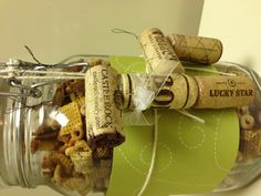 My own:  Cork reindeer and homemade snack gift