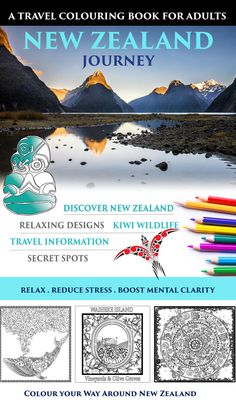 Awesome coloring book with a twist! Travel information and QR codes in New Zealand.